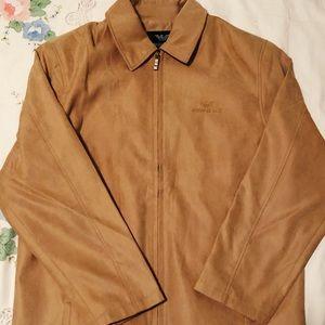Giorgio Armani Zip up Collared Beige Jacket